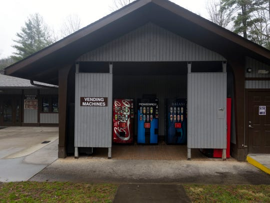 Vending machines at Cades Cove campground in the Great Smoky Mountains National Park are still operating on Wednesday, January 2, 2019.