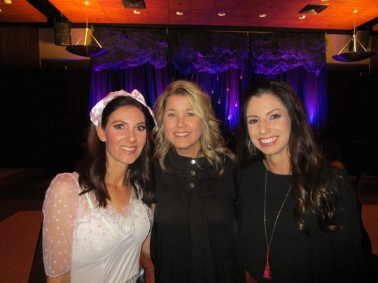 Angel Myers, Paula Webre and Ashley Lipari
