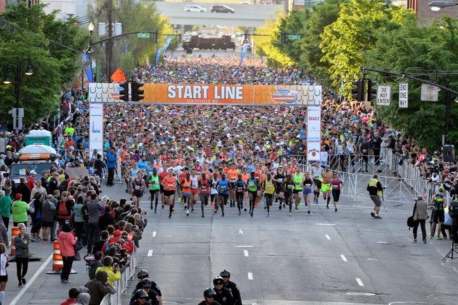 Kentucky Derby Festival race start 2018
