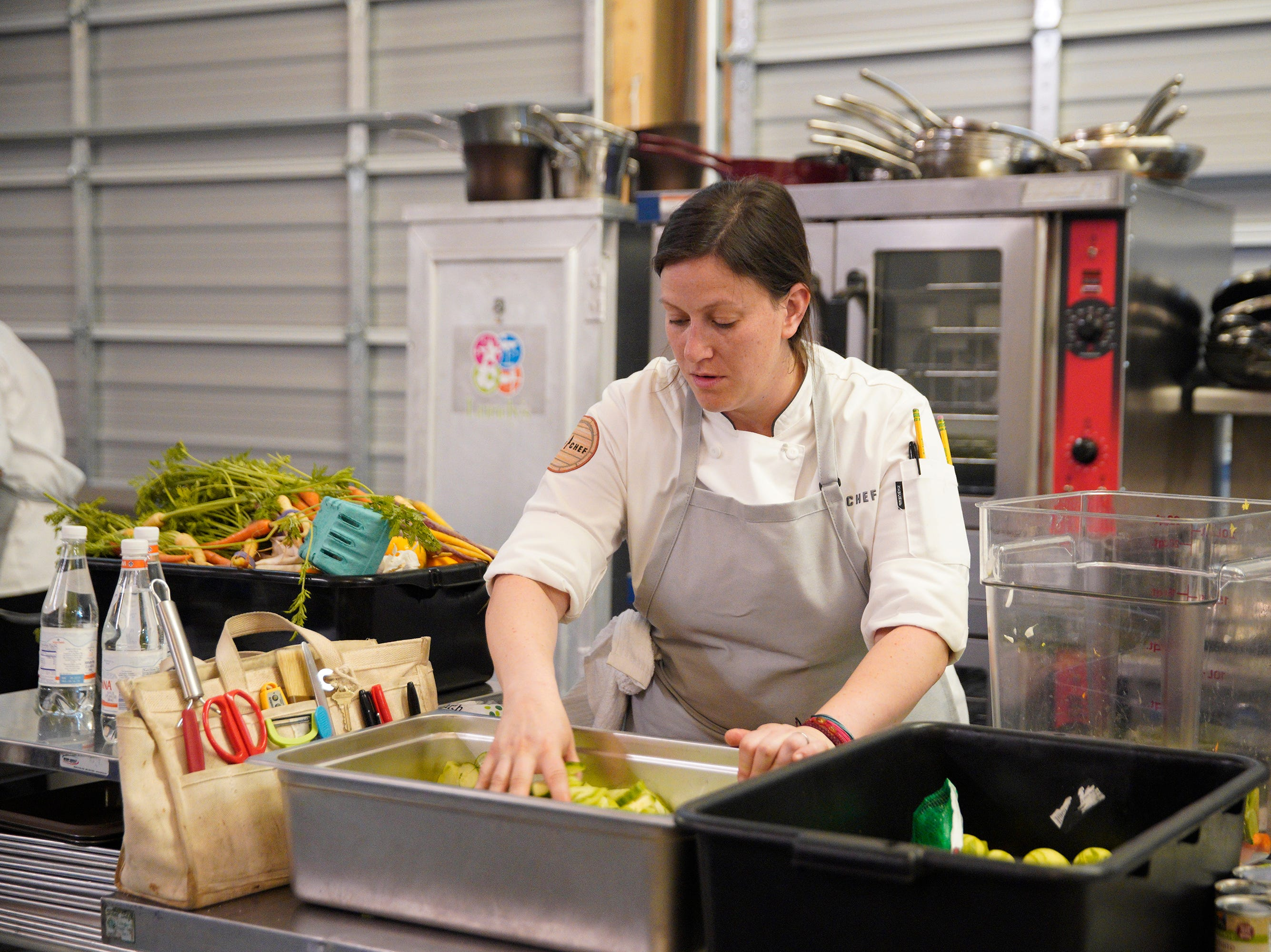"Contestant Sara Bradley on episode 5 of Bravo's ""Top Chef"" Kentucky."