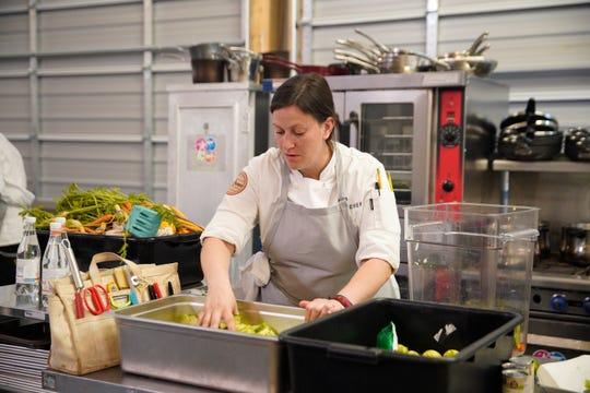 "Sara Bradley on episode 5 of Bravo's ""Top Chef"" Kentucky."
