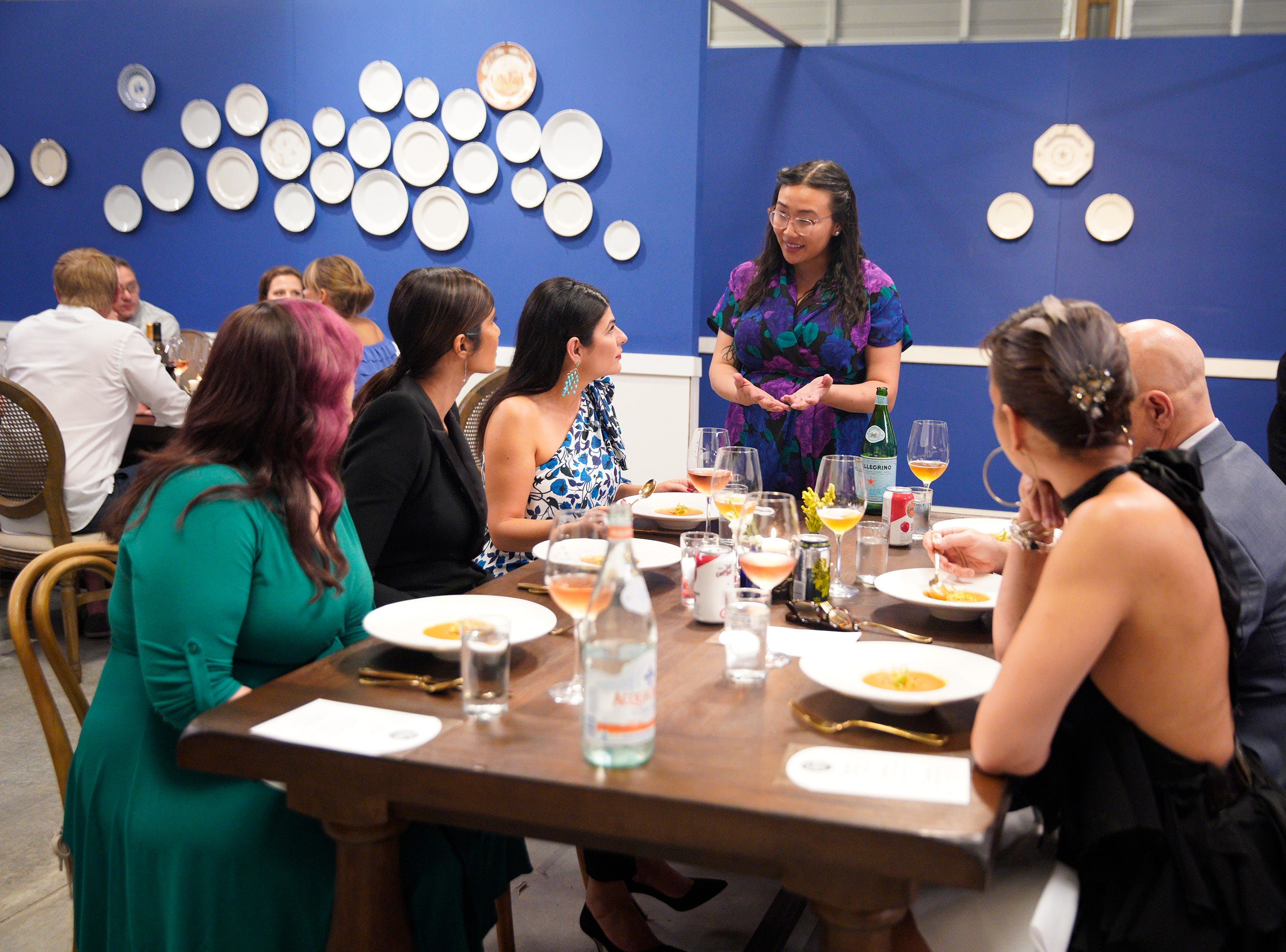 """(From left to right): Padma Lakshmi, Nilou Motamed and Nini Nguyen on episode 5 of Bravo's """"Top Chef"""" Kentucky."""