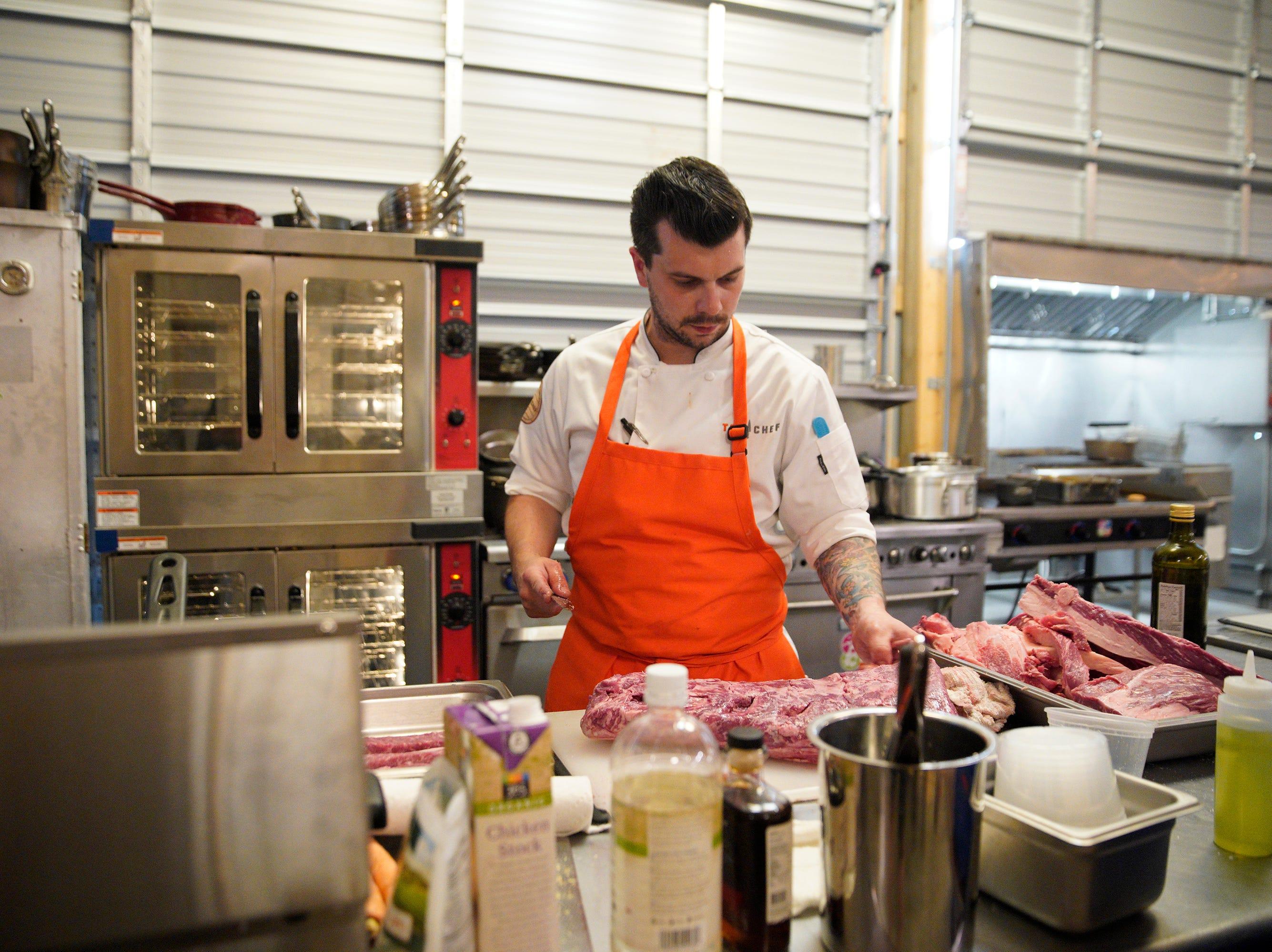 "Contestant Eddie Konrad on episode 5 of Bravo's ""Top Chef"" Kentucky."