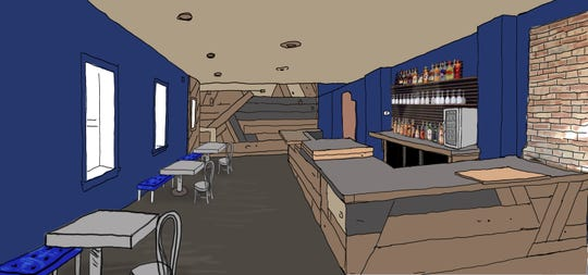 Rendering of the interior of Bar Mitena, which will open at 2001 E. Michigan Ave., in Lansing.