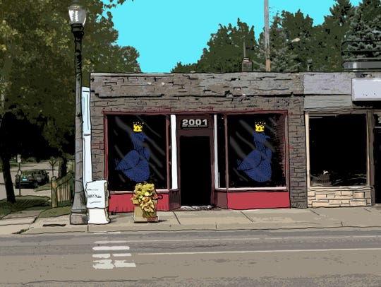 Rendering of the front of Bar Mitena which will open at 2001 E. Michigan Ave., in Lansing.