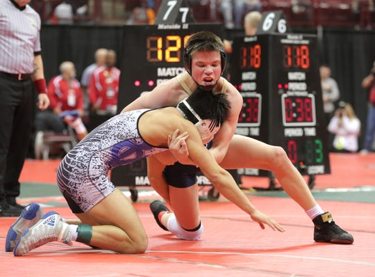 Ontario's Carter Kroll, part of a deep Gorman field at 132 pounds, is coming off a Marion Harding Invitational where he pinned all five opponents to win his class.