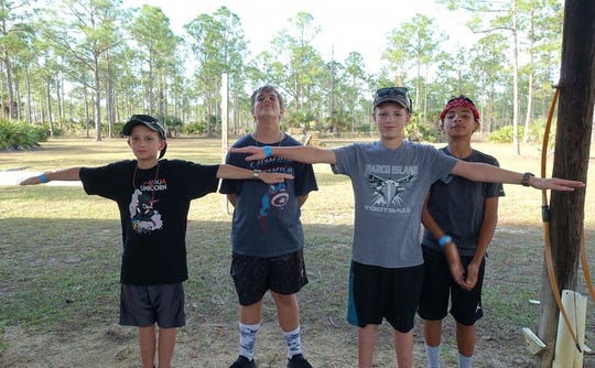 Nathan Olsen, James Burns, James Olsen and Alejo Vallejo at Camp Miles Winter Camp.