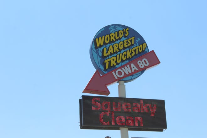 The Iowa 80 is the world's largest truck stop, off exit 284 of I-80 outside Walcott, Iowa.