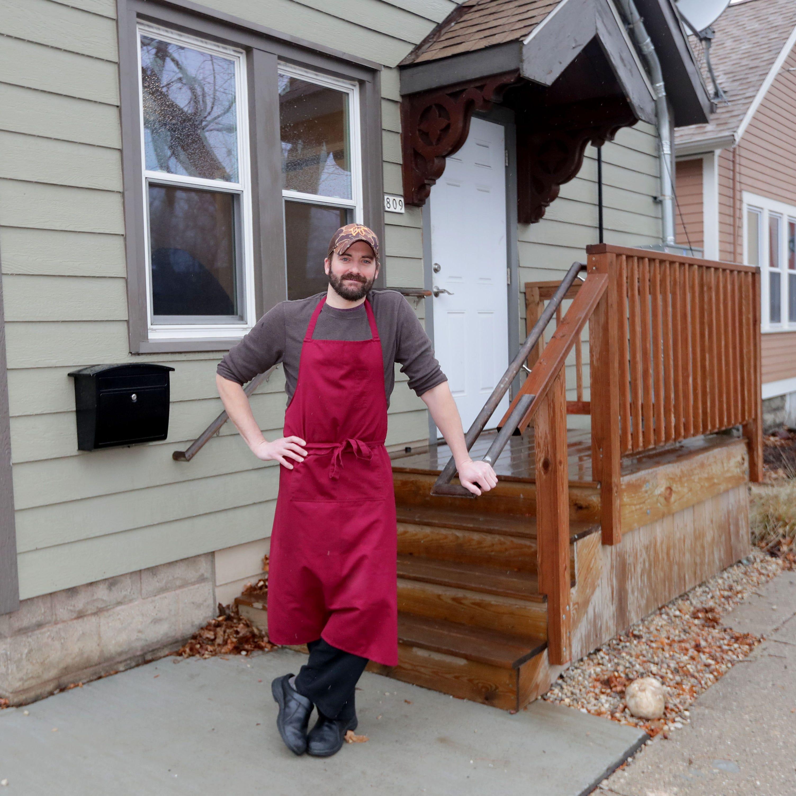 La Merenda butcher Dan Bolton stands outside the...