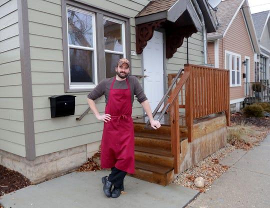 La Merenda butcher Dan Bolton stands outside the new La Merenda Market, a butcher shop and retail outlet at 809 S. Barclay St., adjacent to La Merenda restaurant at 125 E. National Ave.