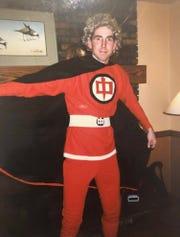 "Jeff Wilhelm dressed up as Ralph Hinkley from ""Greatest American Hero"" in an older photo. Wilhelm, 51, died on Dec. 25."