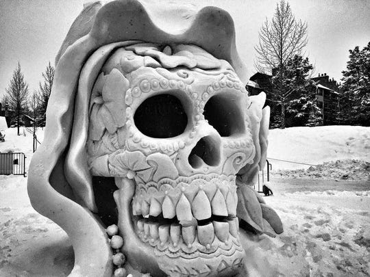 Jeff Shawhan worked on this snow sculpture at the 2016 International Snow Sculpture Championships in Breckenridge.