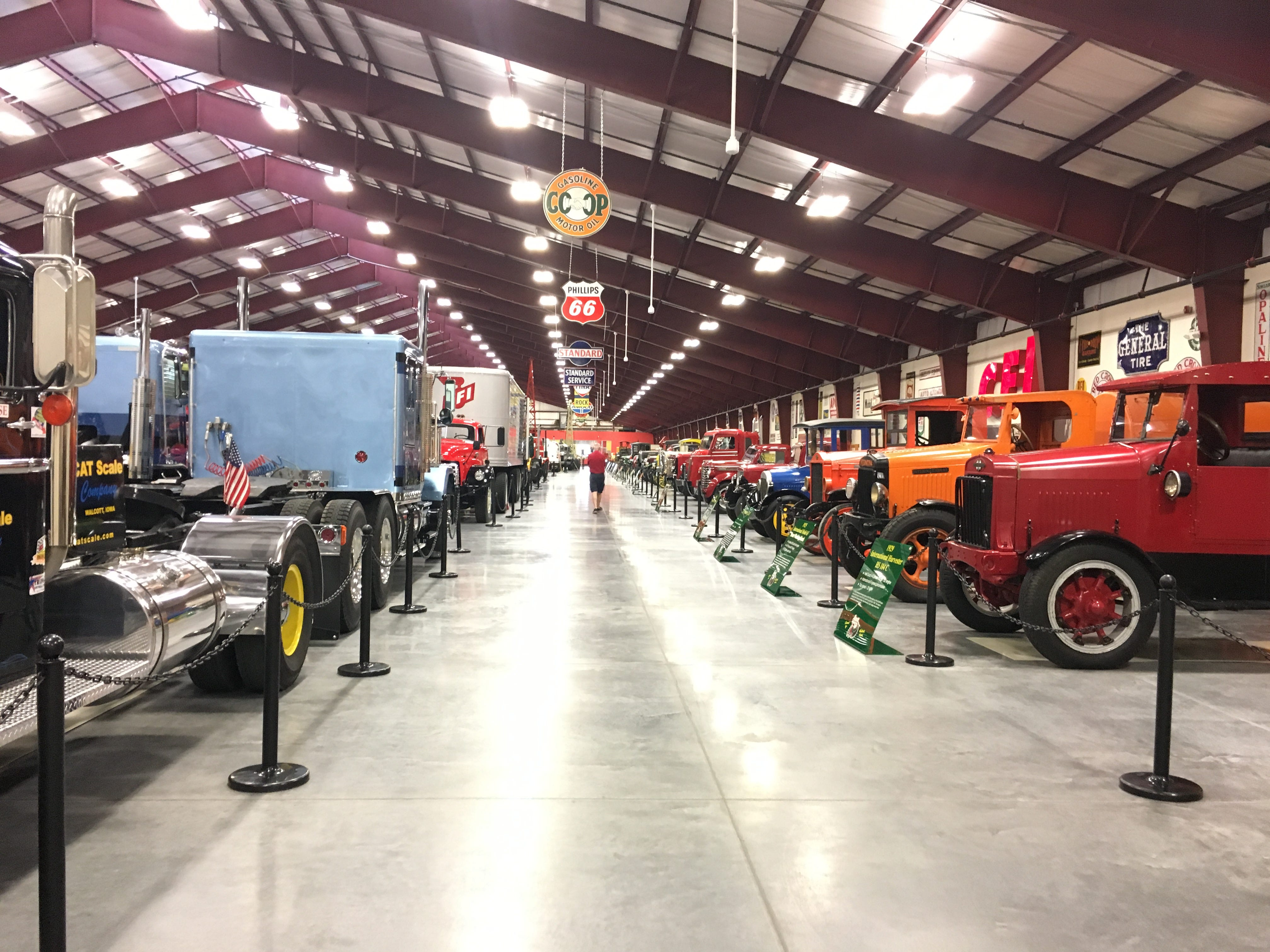 Trucks are on display at the Iowa 80 Trucking Museum.
