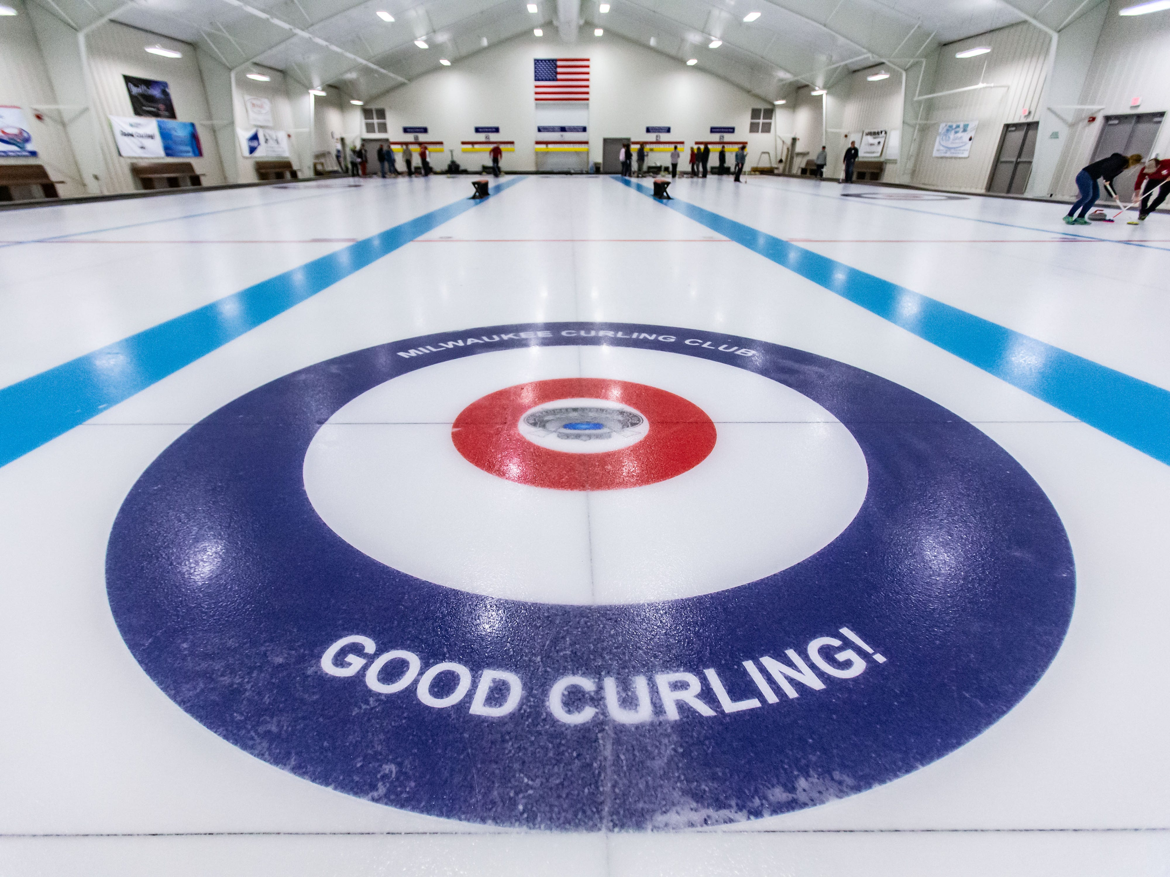 Participants practice the sport of curling during the Learn to Curl program at the Milwaukee Curling Club in Cedarburg on Saturday, Dec. 29, 2018. The Milwaukee Curling Club was founded in 1845 and is the longest continually operating curling club in the United States.