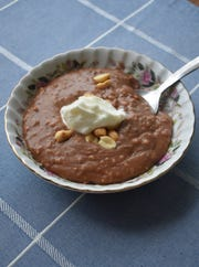 Nutty Chocolate Oatmeal is a mildly sweet brunch dish made easier with a slow cooker.