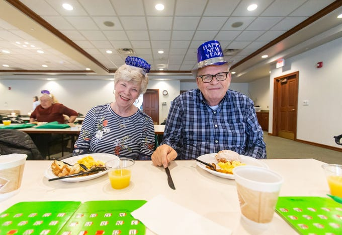 Nancy and David Jappinen of Oconomowoc enjoy good company and a delicious meal during the free monthly senior breakfast club at Aurora Health Care in Summit on Tuesday, Jan. 1, 2019. Senior Breakfast Club is held from 8 to 10 a.m. on the first Tuesday of each month and is open to seniors and their families. For more info please call Trish Golden at 262-434-1248.