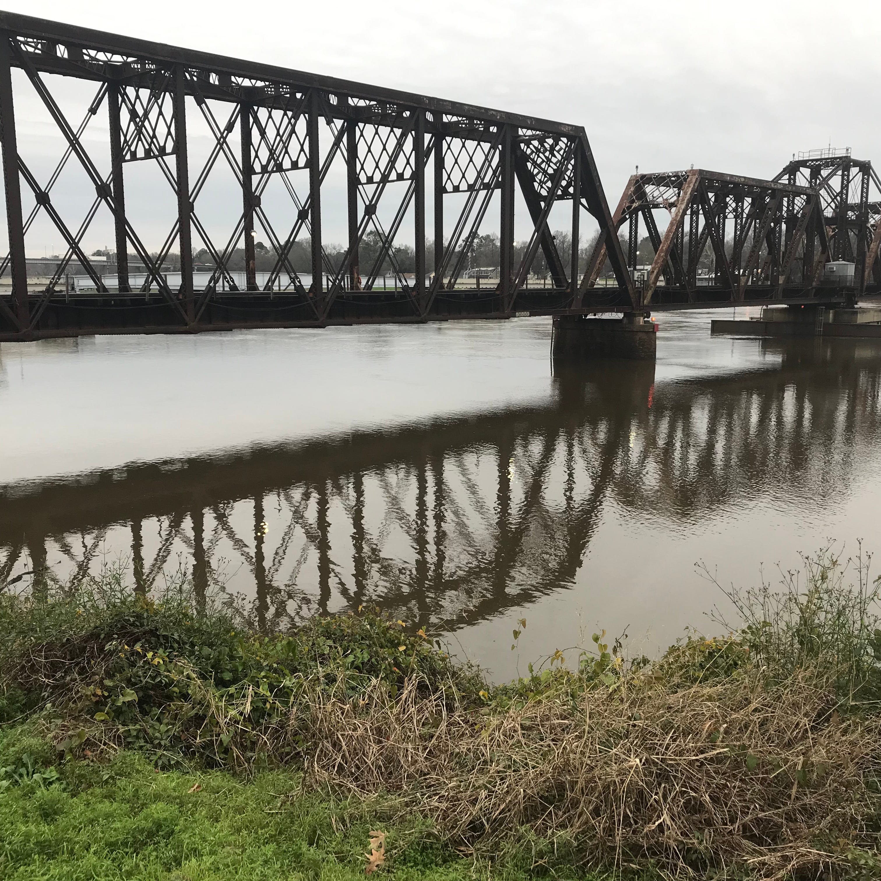 The Ouachita River is among the rivers and streams in Louisiana already swollen with rainfall.