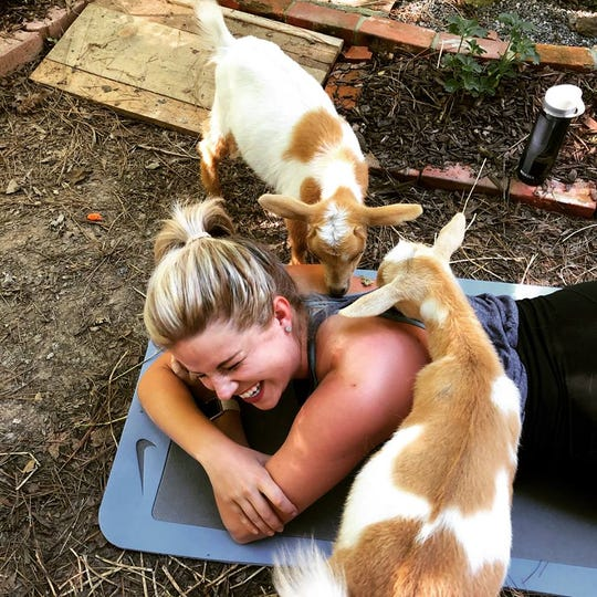 Goat Yoga at the Farm is Saturday.