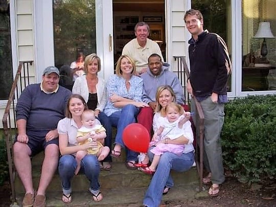 Victor Ellis near end of his life with Tim and Kathy Miller and their family.