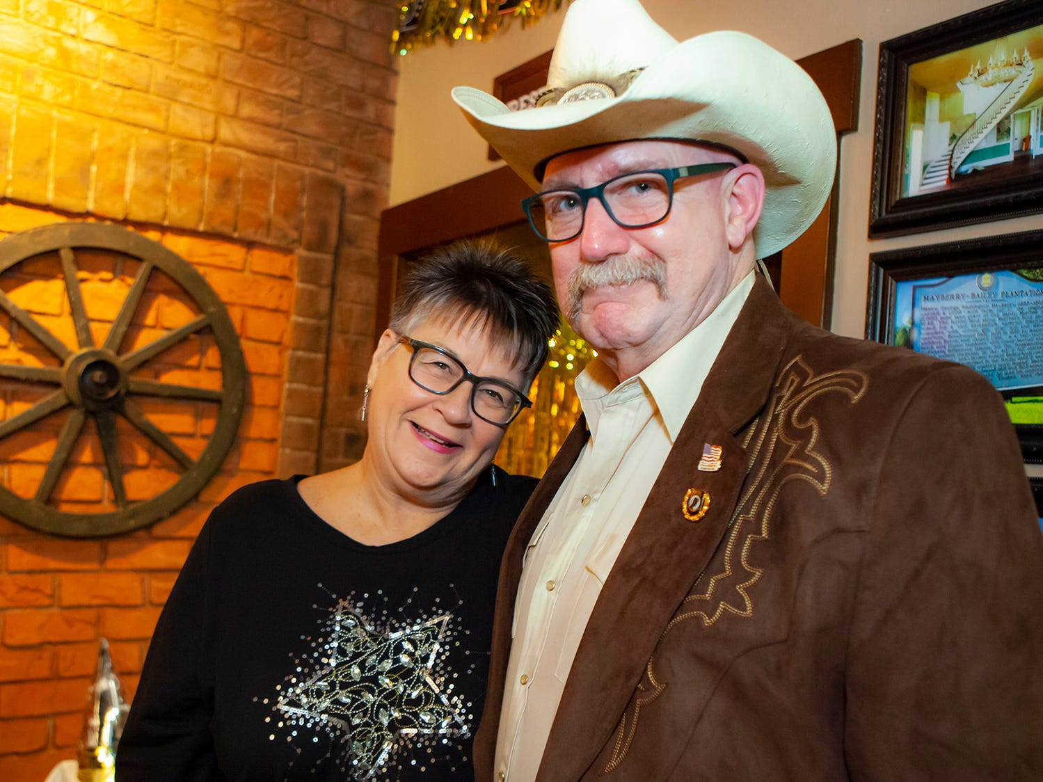 Kat and Dave Boehl at the New Year's party at Hank's Honky Tonk in Murfreesboro.