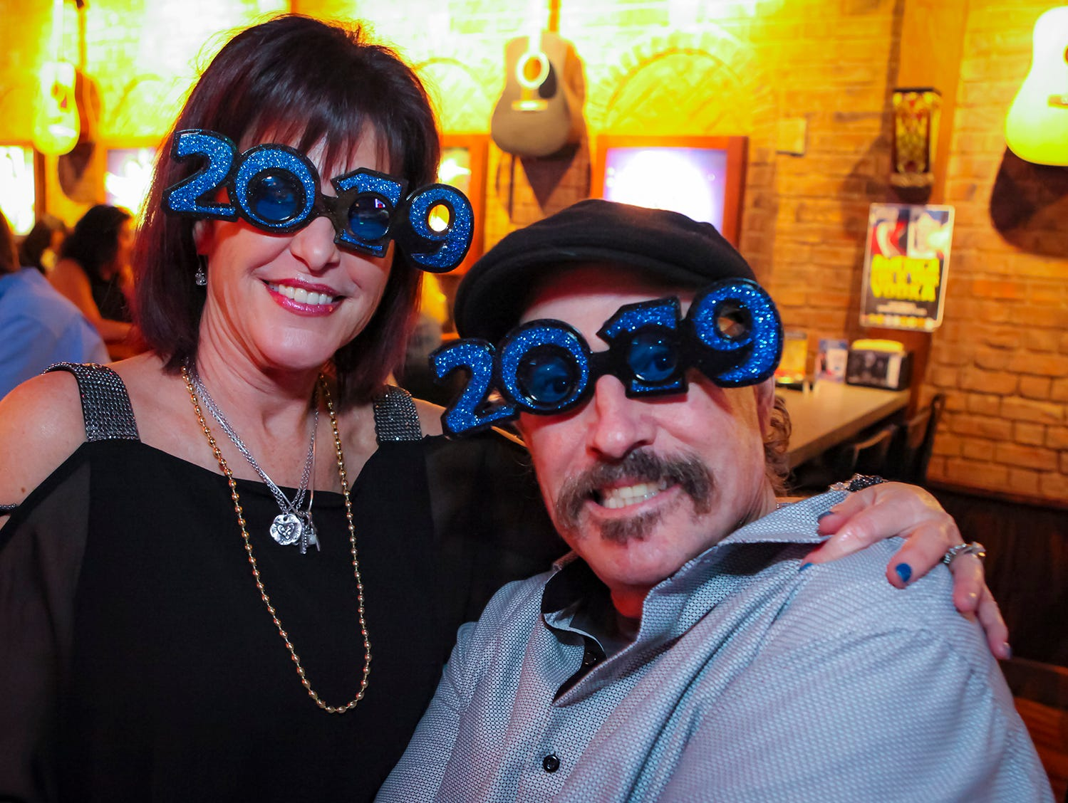 Tracy and Dirk Edmundson at the New Year's party at Hank's Honky Tonk in Murfreesboro.