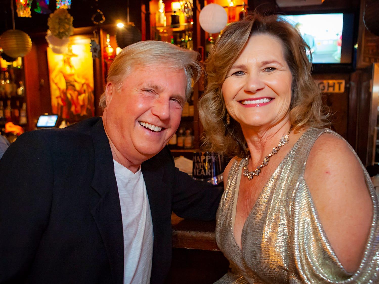 John Carlton and Lynn Pater at the New Year's party at Hank's Honky Tonk in Murfreesboro.