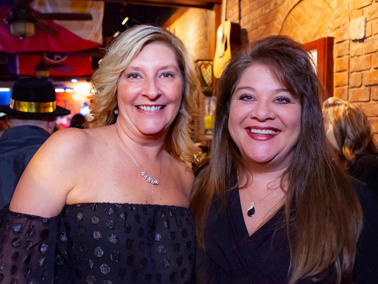 Bonnie Winslow and Marcy McCool at the Hank's Honky Tonk New Year's Eve Party in Murfreesboro.