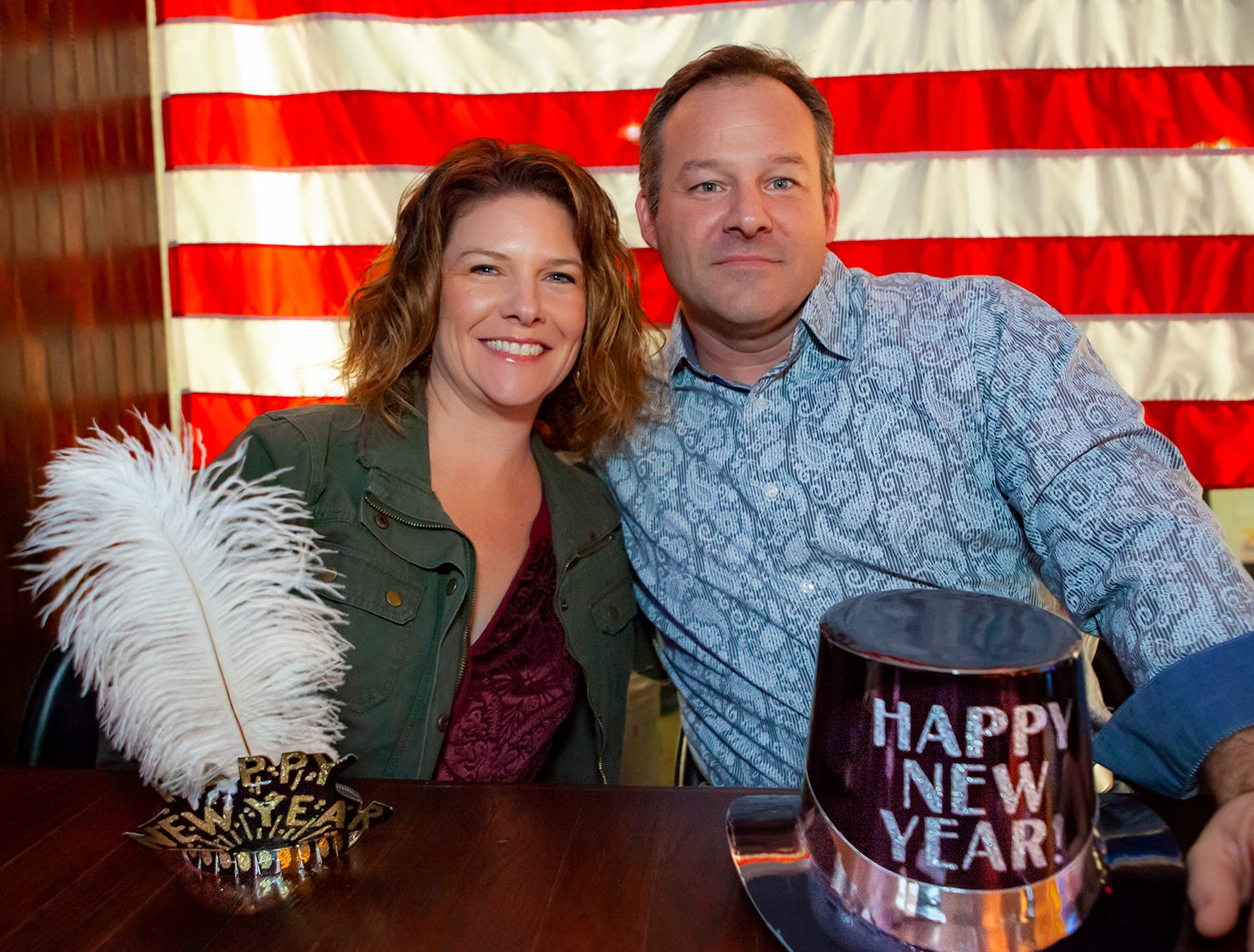 Amy and Craig Snider at the Hank's Honky Tonk New Year's Eve Party in Murfreesboro.