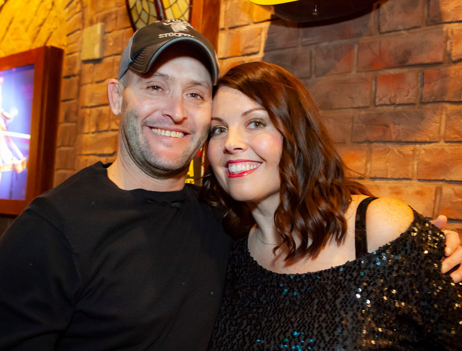 Riley Grinnell and Jennifer Smotherman at the New Year's party at Hank's Honky Tonk in Murfreesboro.