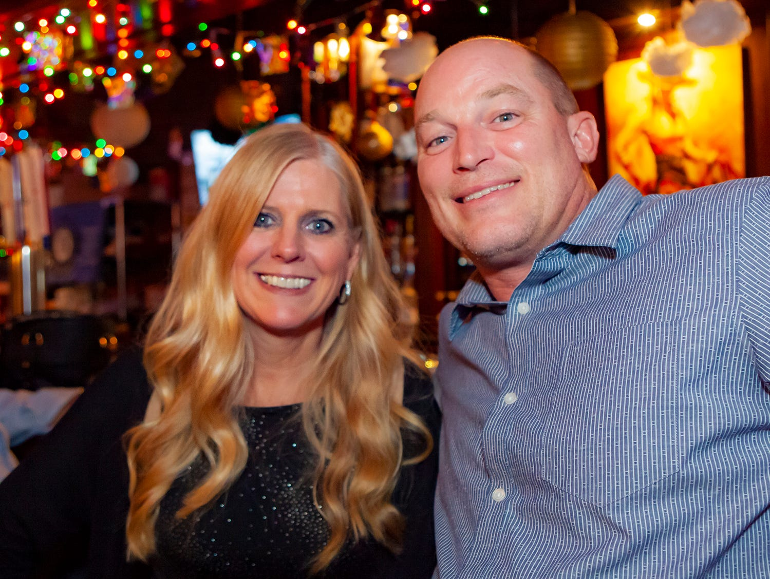 Anabel Hobbs and Mike Ensminger at the Hank's Honky Tonk New Year's Eve Party in Murfreesboro.
