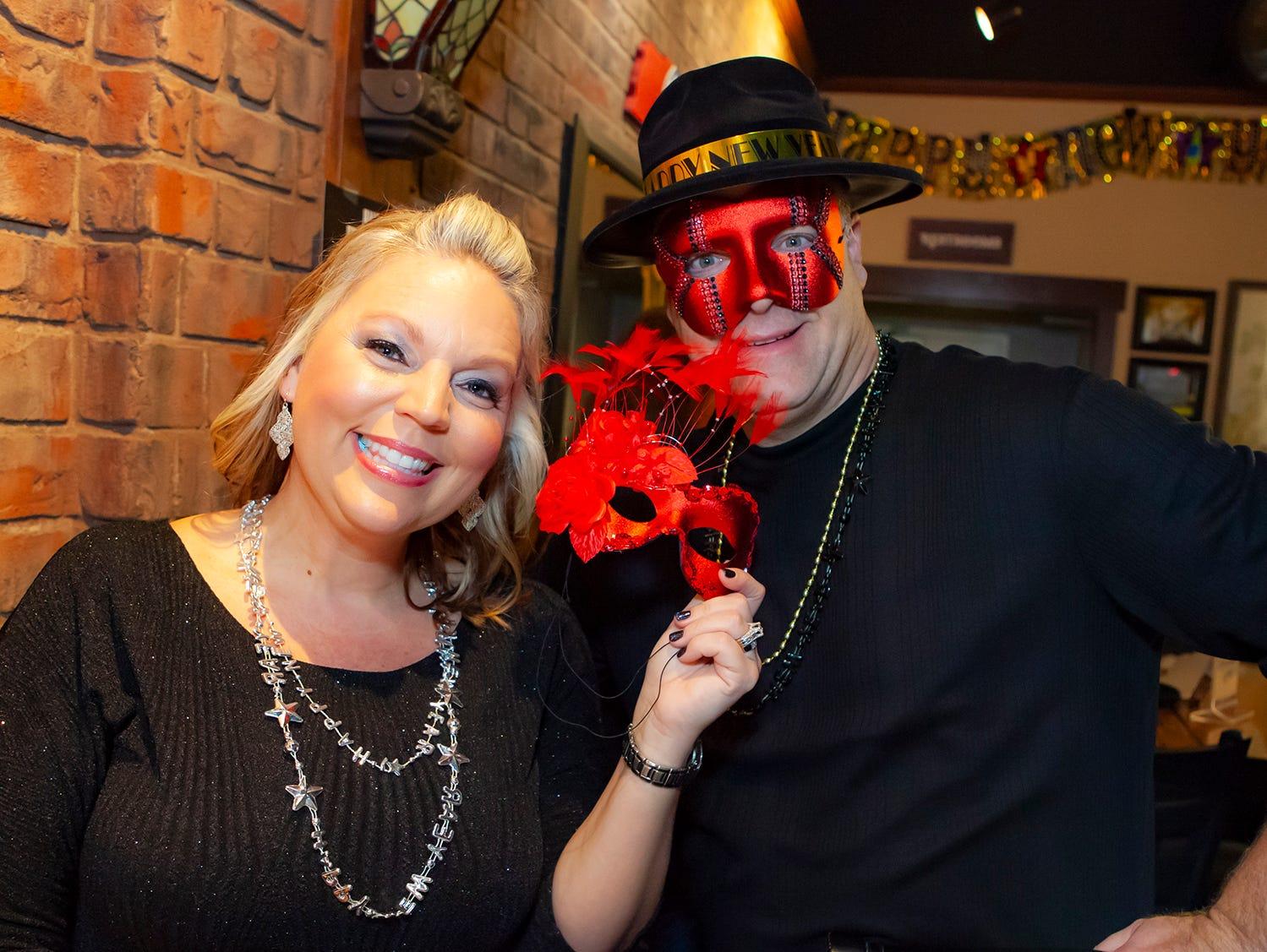 Tanya and Mark Todd at the New Year's party at Hank's Honky Tonk in Murfreesboro.