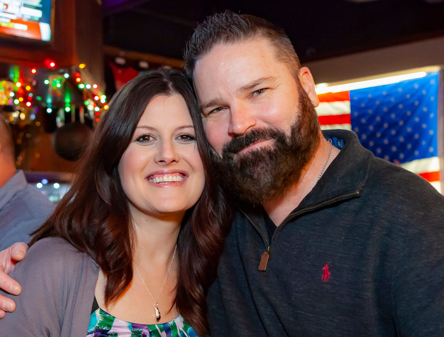 Wendy Patton and Michael Verner at the New Year's party at Hank's Honky Tonk in Murfreesboro.