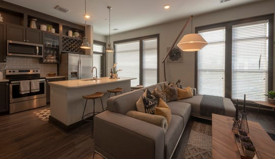 An interior view of an apartment at the Capitol View development.