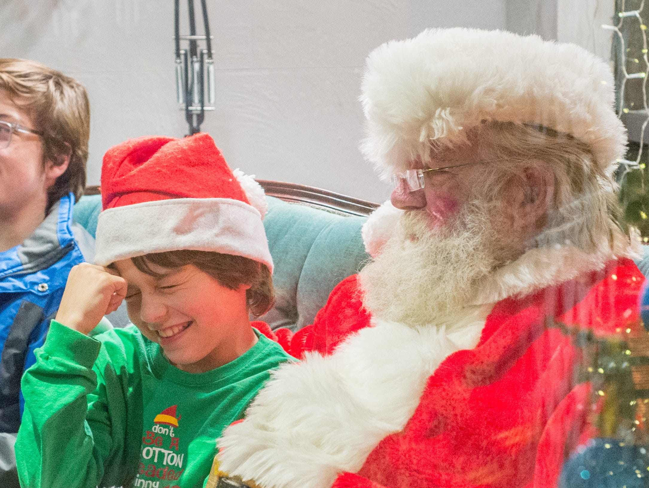 The Echols family enjoys the Santa on the Square event presented by Historic Downtown Gallatin at 106 Public Square on Saturday, Dec. 22.