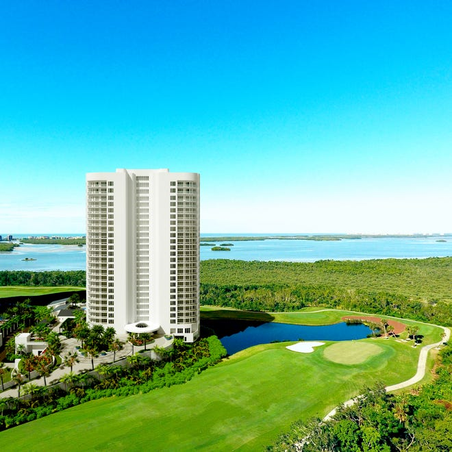 One penthouse residence is available for purchase at Omega, the final high-rise tower to be built within Bonita Bay.