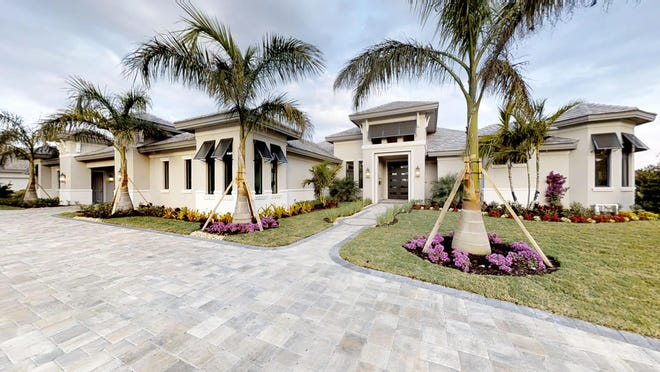 One of the homes by Florida Lifestyle Homes is being built in Naples and is based on the company's St. Martin II model.
