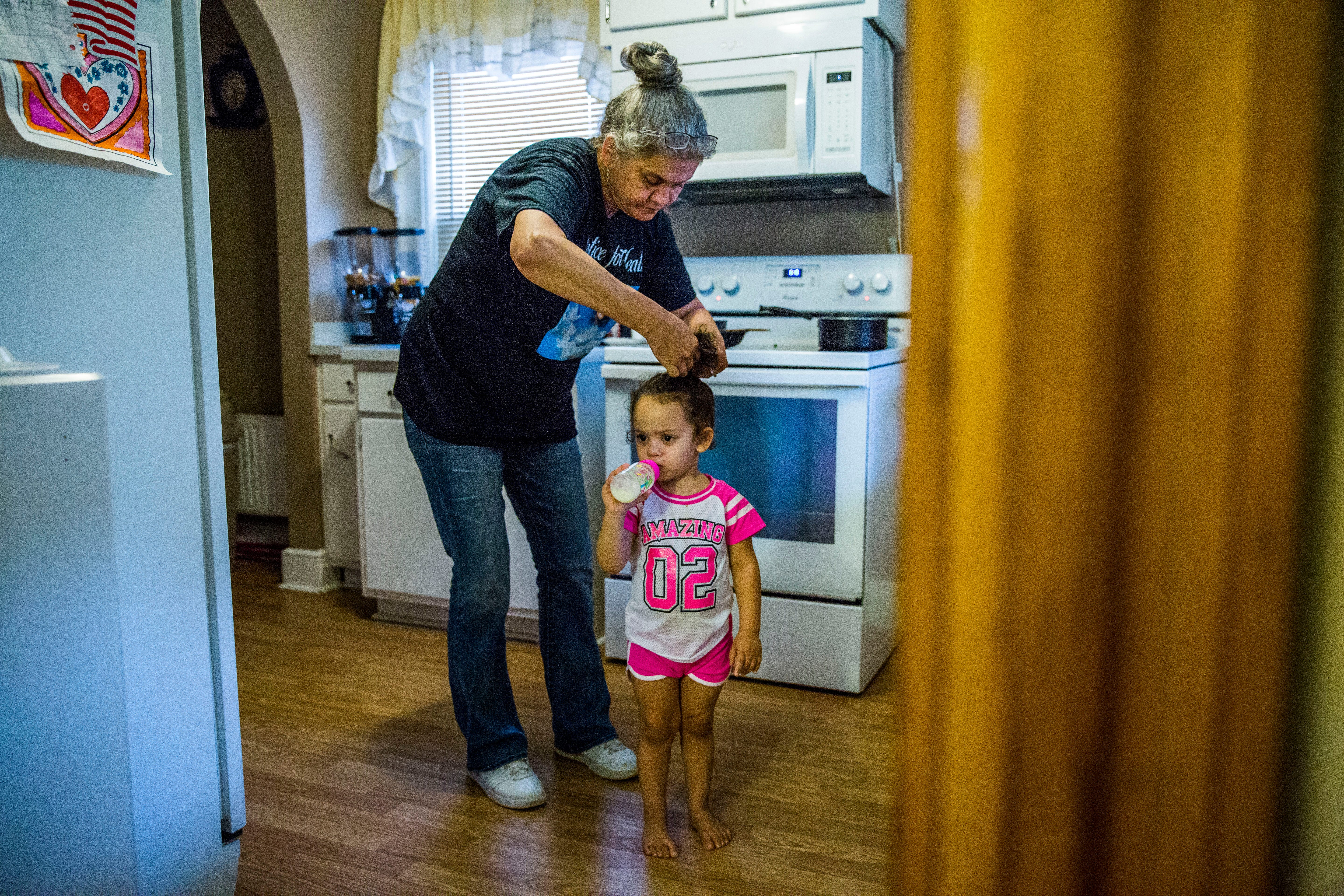 Tammy Meadows now cares for her daughter's two children, Maliya, 2, and Malakhi, 8, in her West Virginia home after her daughter died from complications of cosmetic surgery at a troubled Hialeah, FL, clinic. Heather Meadows, a 29-year-old single mother, was among eight women who died after procedures at the plastic surgery business founded by Dr. Ismael Labrador.