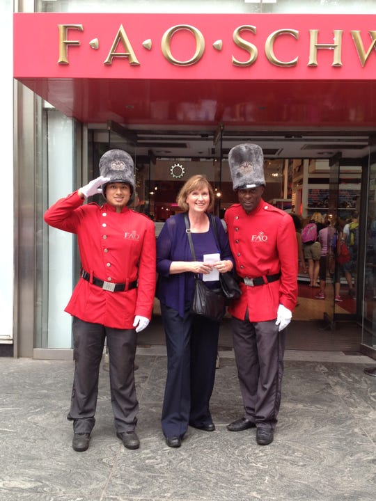 Joan Verdon covering the closing of FAO Schwarz in 2015. The brand has since been resurrected with a new flagship store in New York.