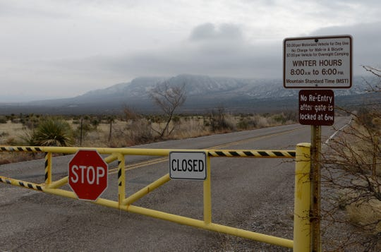 Aguirre Spring Campground in the Organ Mountains-Desert Peaks National Monument was closed on Wednesday, Jan. 2, 2019, likely because of the partial government shutdown, but no signs explained why.