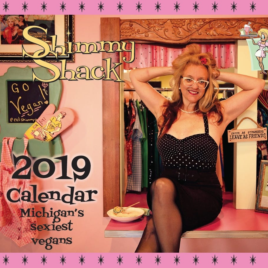 Fifth annual 'sexy vegan' calendar shows off Shimmy Shack's new Plymouth digs
