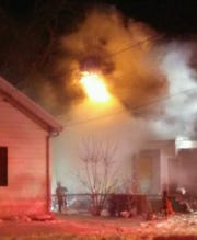 A house fire rekindles Jan. 1 on the 600 block of Otter Avenue. Crews worked to put out the fire for the second time in two days.