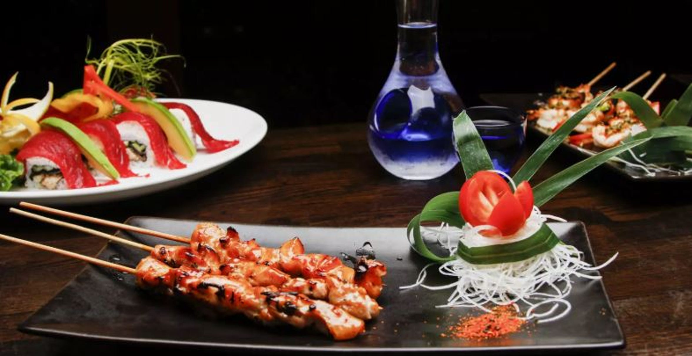 Okura Robata Grill & Sushi Bar.