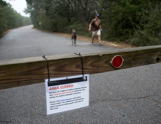 Gulf Islands National Seashore remains closed as the partial government shutdown heads into its third week.