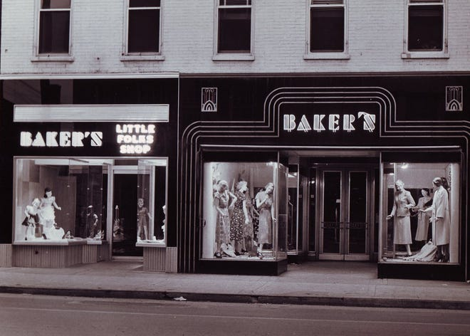 Bakers Dress Shop on Broadway in Hanover also housed another shop, Bakers Little Folks, as seen in this photo from the 1950s. Bakers closed on Nov. 10, 2012 after 84 years.