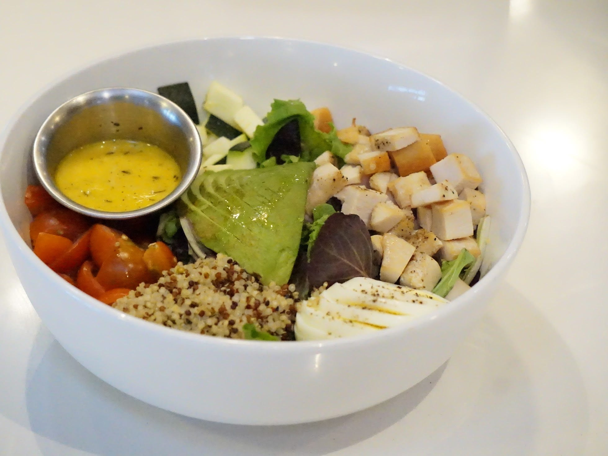 The I'm No Spring Chicken bowl at Luci's Healthy Marketplace.