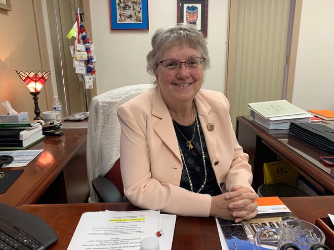 Diane Douglas poses for a photo in her office in December 2018.