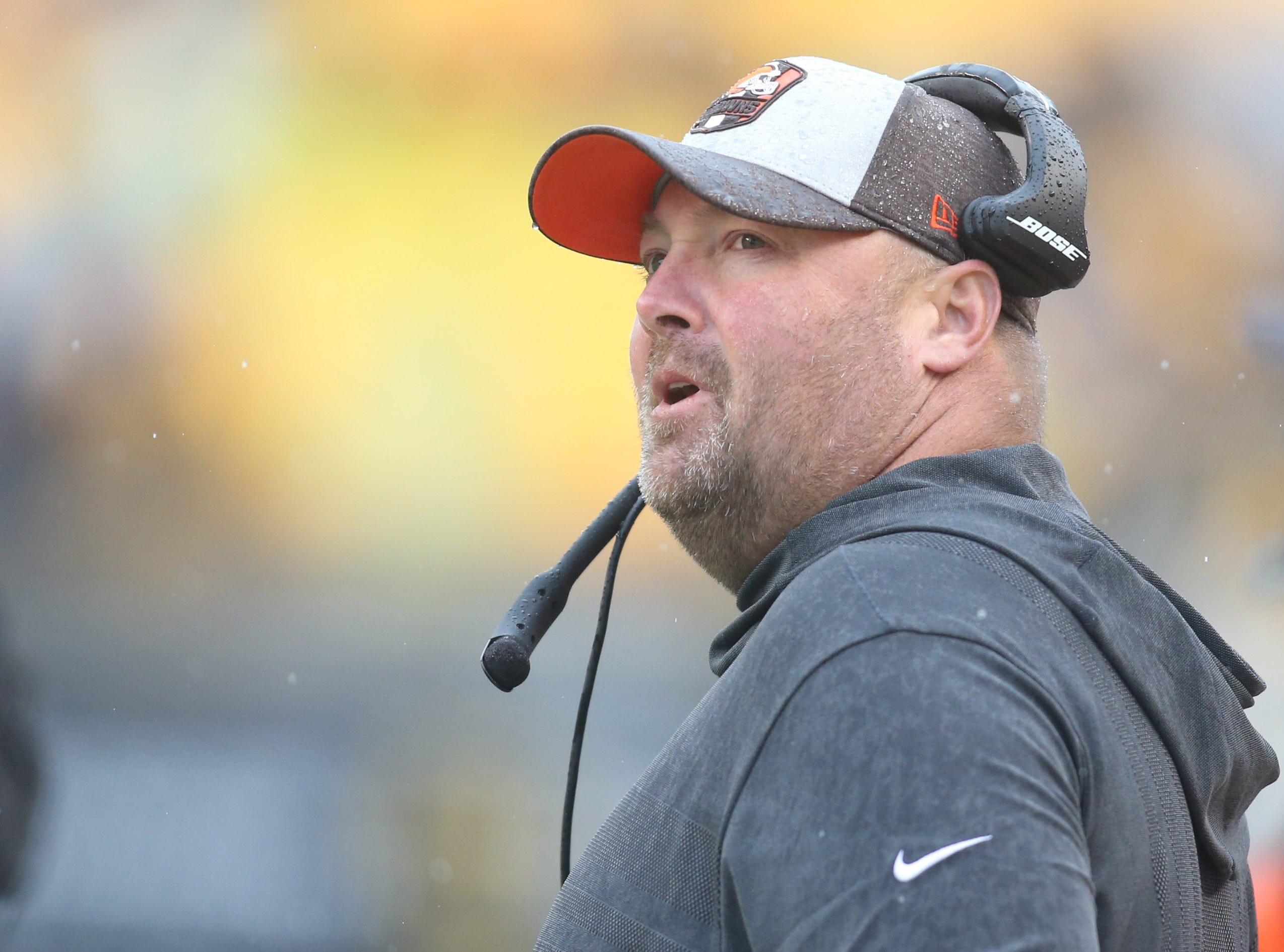 Cleveland Browns offensive coordinator Freddie Kitchens.