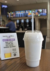 Taco Bell Cantina serves margarita, piña colada and Mountain Dew freezes, which can be ordered with rum, vodka or tequila.