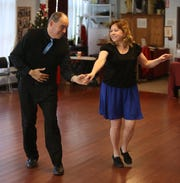 Joe and Julie Donato on the dance floor at Hudson Valley Dance Depot in LaGrangeville on December 26, 2018.  One way to keep a resolution to get in shape for the new year is to take dance lessons.