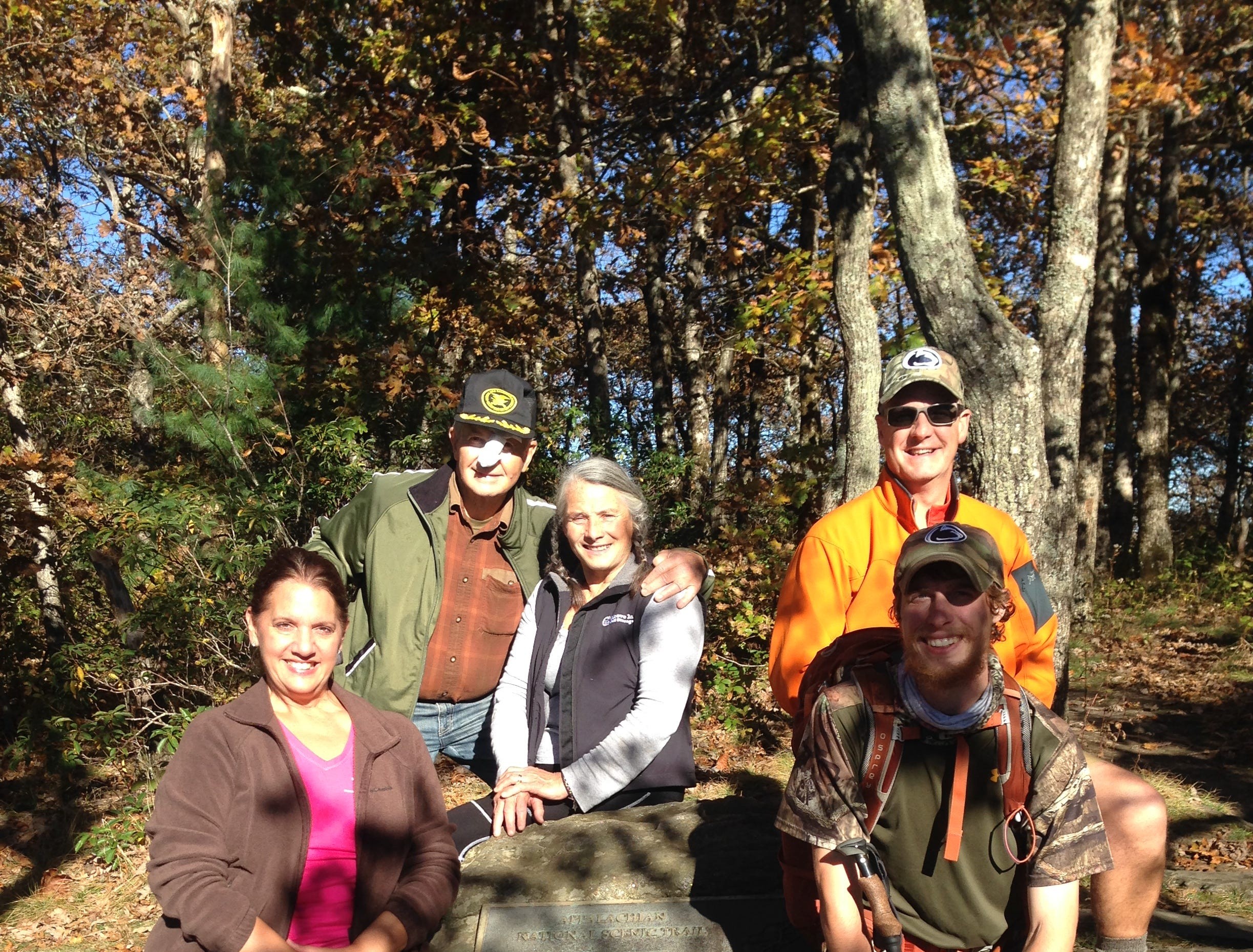 Jacob Gilliland's family joined him on some parts of the Appalachian Trail hike.